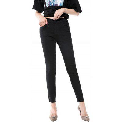 Jeans Nine Spring and Autumn The New Version Is Thin High Waist Black