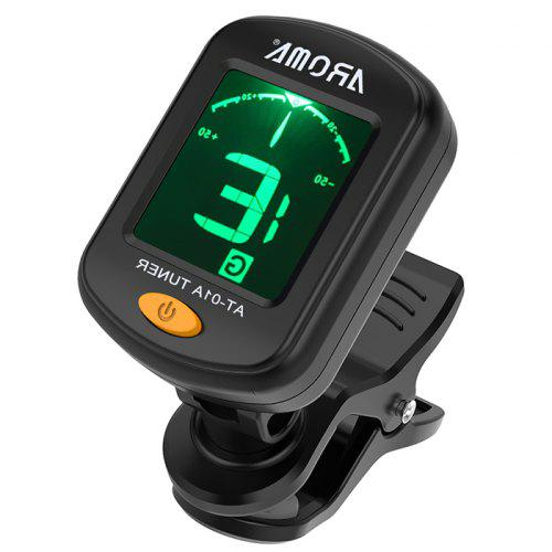 AROMA AT - 01A Clip-on Guitar Tuner Ukulele Bass Tuning Accessory