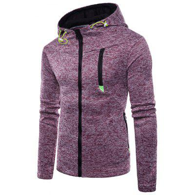 Mens Casual Zip-up Cotton Hoodie