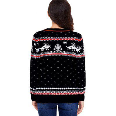 Christmas Jacquard Crew Neck Knitted Sweater