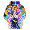 Anime Cartoon Printing Hooded Fleece - MULTI-B