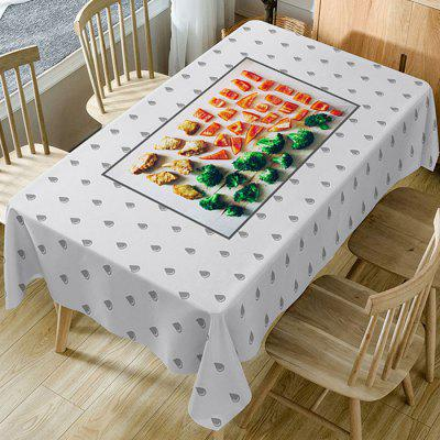 Foods Pattern Fabric Waterproof Table Cloth