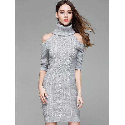 Sexy Off-the-Shoulder Knitting Long Sweater