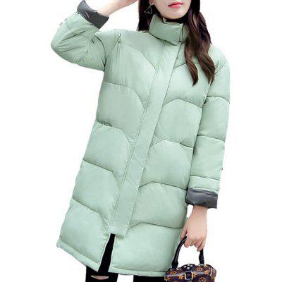 Winter Woman Loose Fit Coat Fashion Cute Parkas Jacket Overcoat Medium Casual Pl