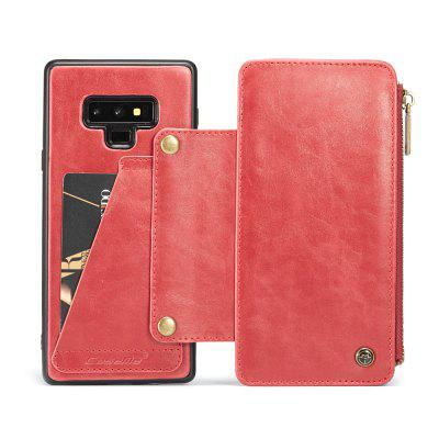 CaseMe Dachable 2 in 1 Business Zipper Leather Wallet Cover per Samsung Note 9