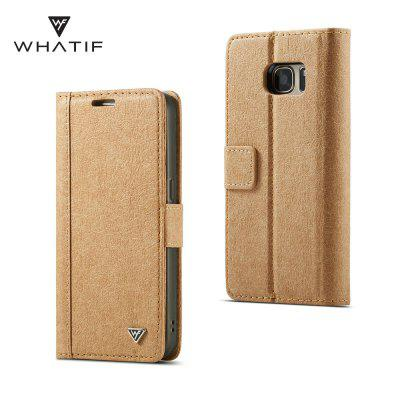 WHATIF for Samsung Galaxy S7 Detachable Wallet DIY Phone Case with Card Slots