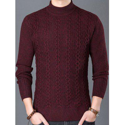 New Man Fashion Full Casual Handsome Sleeve O-Neck Warm Knit Sweater YW245-1