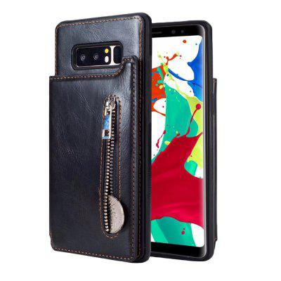 For Samsung Galaxy Note 8 Wallet Case Flip Folio Zipper Case With No Front Cover For Note 8 Slim Protective PU Leather C