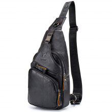 42c90f9d15f2 The Young Men S Leather Chest Baotou Leather Shoulder Messenger Bag  Anti-Theft Lock Chest