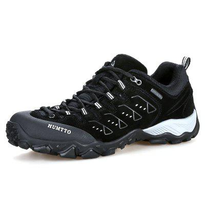 HUMTTO Men Hiking Shoes Outdoor Mountains Trekking Leather Shoes EU Size 39-45