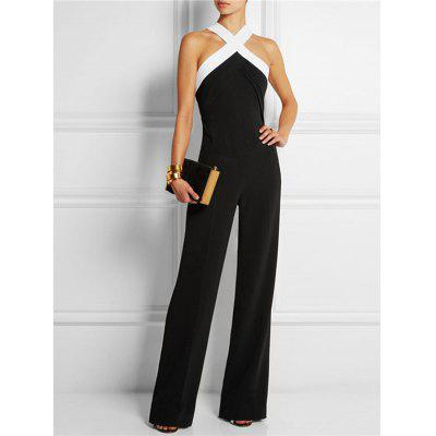 Sexy Fashion Strapless Halter Jumpsuit