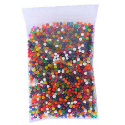 3000PCS Soft Crystal Soil Grow Hydrogel Water Gun Bullet Toy Beads Plant Flower Cultivate Mud Magic Ball Home Decor