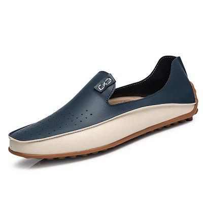 Men's Casual Flats Leather Driving Shoes