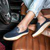 Men's Casual Flats Leather Driving Shoes - PEACOCK BLUE