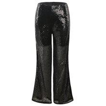 Get Glitter Ribbon Broad-Leg Trousers Just for $52.34