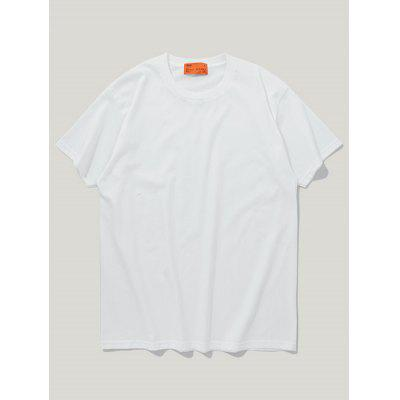 INFLATION Spring and Summer Solid Color Cotton Men'S Short-Sleeved T-Shirt