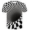 3D Space Comic Print Men'S Casual Short Sleeve Graphic T-Shirt - MULTI-D