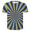3D Space Comic Print Men'S Casual Short Sleeve Graphic T-Shirt - MULTI-E