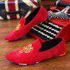 ZEACAVA Men's Fashion Casual  Sneakers Peas Shoes - RED