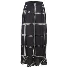 Get Ruffled Trousers with A Large Plaid Wide Leg Pants Just for $51.64