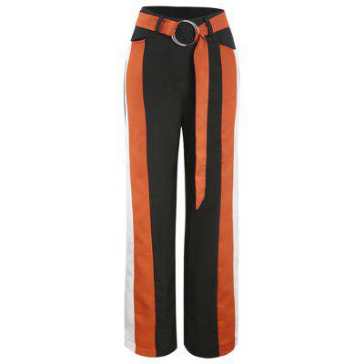 Splice Loose Wide Leg Pants