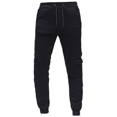 2018 Men's Fashion Casual Tether Elastic Multi-pocket Sports Trousers