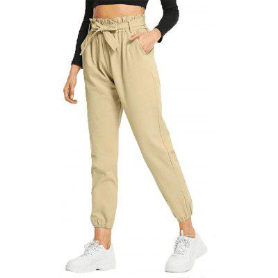 Women'S Solid Color Casual Ninth Pants