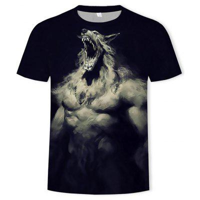 3D Fashion Men's Print Wolf T-Shirt