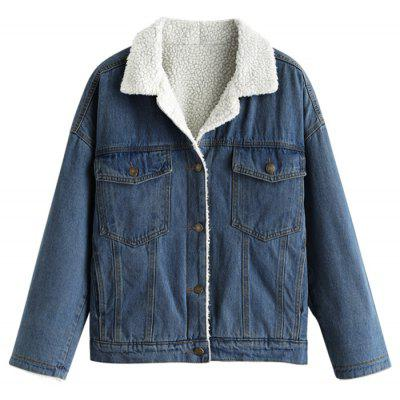 Pocket Fleece gefütterte Jean Jacket
