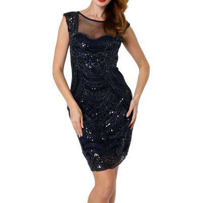 Sexy Perspective Sequined Dress