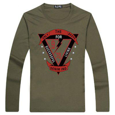 New High Quality Mens T Shirt Casual Long Sleeve Male T-Shirts