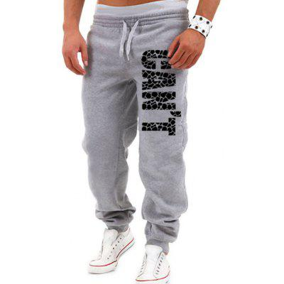 Men's Letter Printed Casual Trousers
