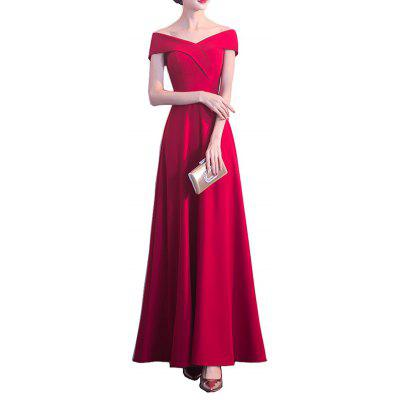 Long Dress Wedding Banquet Evening Slim Fit Cocktail Party for Ladies