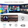 Excelvan BL46 Android 6.0 Multimedia LCD Projector 1G RAM 8G ROM Support Bluetooth 4.0 1080P Wireless Connection With Smartphone Tablet Many Interfaces USB VGA SD HDMI For PC Laptop Game Console DVD - BROWN