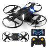 helifar H816 720P WiFi FPV Altitude Hold Foldable RC Quadcopter - BLACK