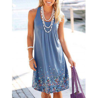 Ladies Printed Dress Loose Sleeveless