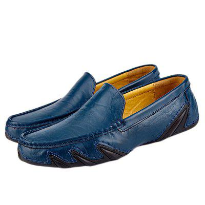 Genuine Leather Loafers Casual Driving Hollow Casual Shoes for Men