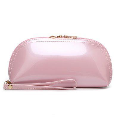 Women's Shell Shape Patent Leather Mini Clutch Bag