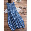 Women's Casual Two-piece Polka Dot Printed Vest Dress Solid Color T-shirt - LAPIS BLUE