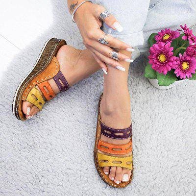 Women's Slippers Thick Sole Splicing Design