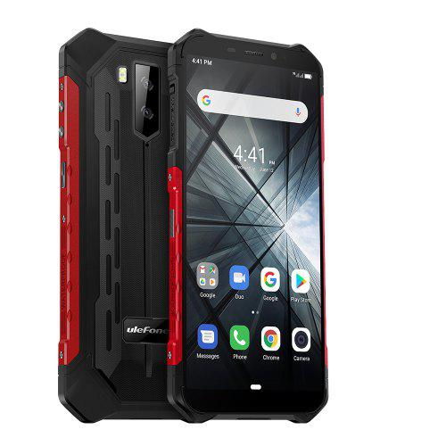 Gearbest Ulefone Armor X3 3G Phablet - Black EU 5.5 inch Android 9.0 MT6580 Quad Core 2GB RAM 32GB ROM 5000mAh Battery Face Unlock IP68 / IP69K Protection Grade