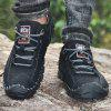Men's Hand Stitching Casual Lace-up Shoes Soft Bottom - BLACK