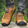Men's Hand Stitching Casual Lace-up Shoes Soft Bottom - ORANGE GOLD