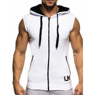 Men's Vest with Hood Sleeveless Casual