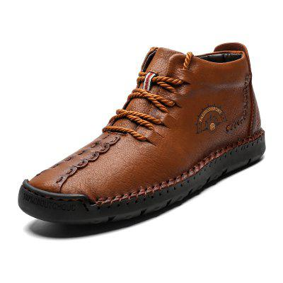 Men Large Size Breathable Soft High-top Boots