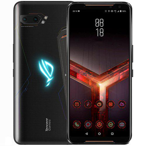 Gearbest ASUS ROG Phone 2 Gaming 4G Phablet 8GB RAM 128GB ROM - Black 6.59 inch Android Pie Snapdragon 855 Plus Octa Core 2.96GHz 12.0MP + 13.0MP Rear Camera 6000mAh Battery