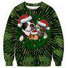 Men's Sweater Christmas 3D Printed Round Neck Large Size Long Sleeve - NIGHT