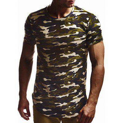 Men's Short Sleeve T-shirt Casual Round Neck Solid Color