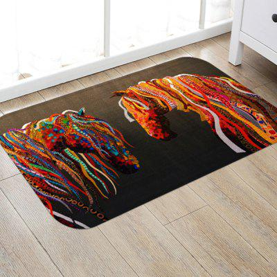 Abstract Horse Pattern Background Floor Mat Carpet