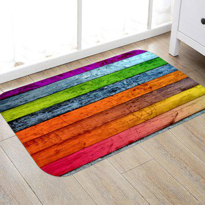 Color Wooden Planks Pattern Background Floor Mat Carpet